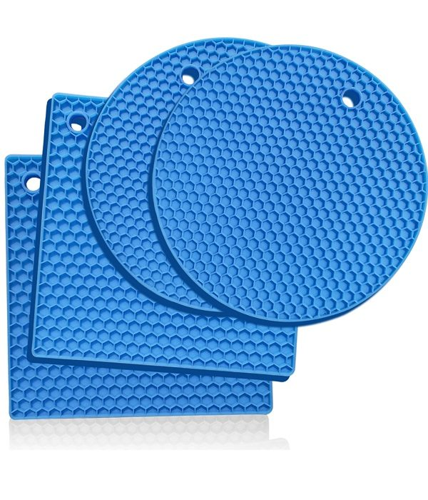 Light Blue silicone trivets