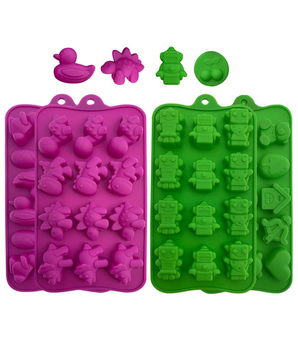 4-Pack Silicone Candy Molds, Chocolate Molds