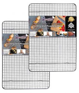 2 piece set jelly roll size cooling racks