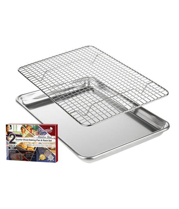 Quarter Sheet Baking Pan and Rack set