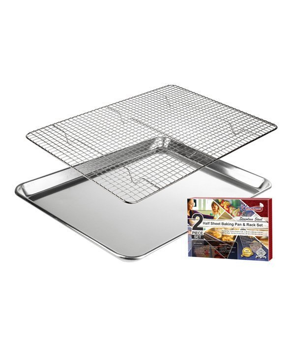 Half Sheet Baking Pan and Rack set