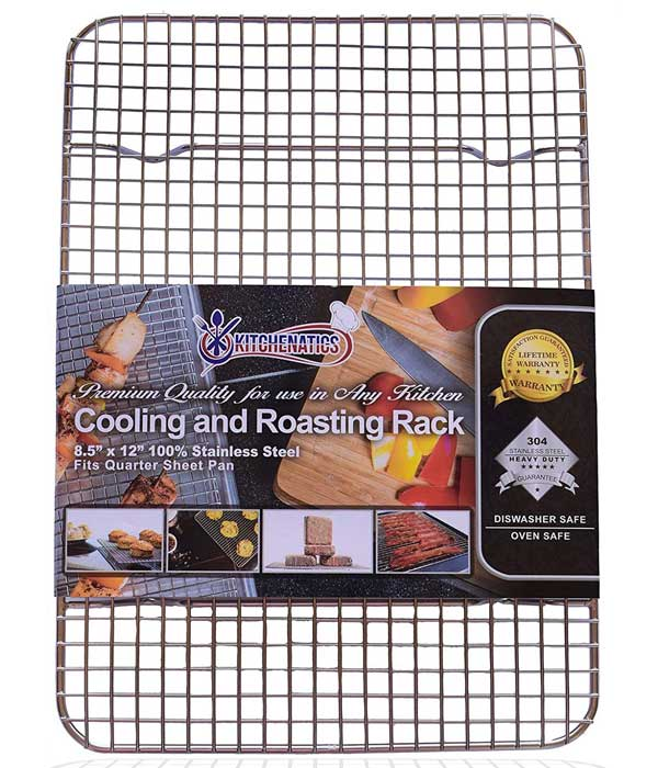 Stainless Steel Cooling, Baking & Roasting Small Wire Racks, 8.5 x 12 Quarter Sheet Size