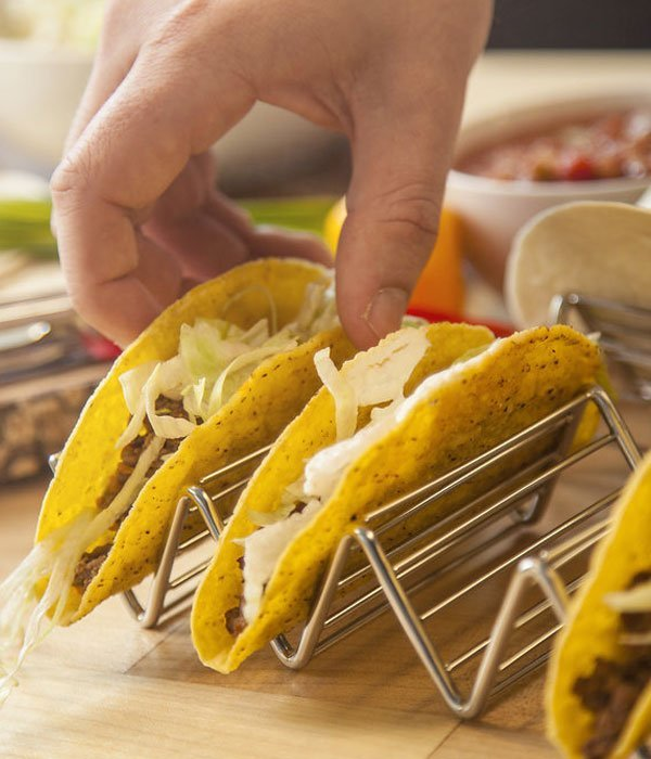 Stainless Steel Taco Holder Stand