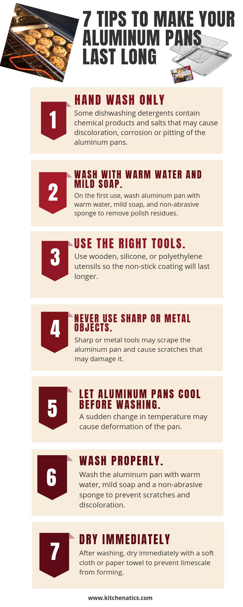 7 tips to make aluminum baking pans last longer