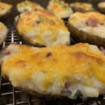 Baked potato with cheese and bacon new