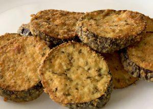 low carb appetizer baked eggplant parmesan