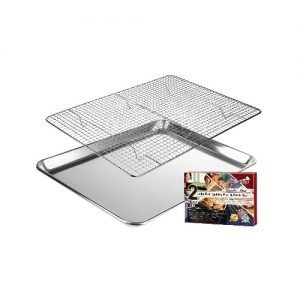 Jelly roll size Baking pan and rack set