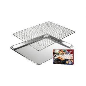Baking pan and rack set