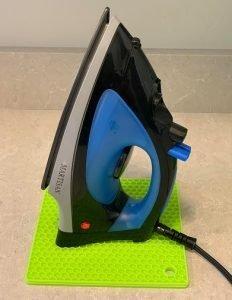 flat iron on multi-purpose silicone trivets