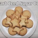 low carb cookies in cookie pan