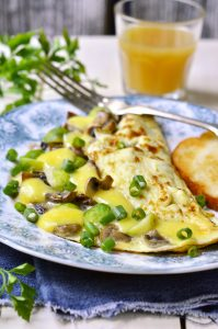 cabbage mushroom omelet_featured