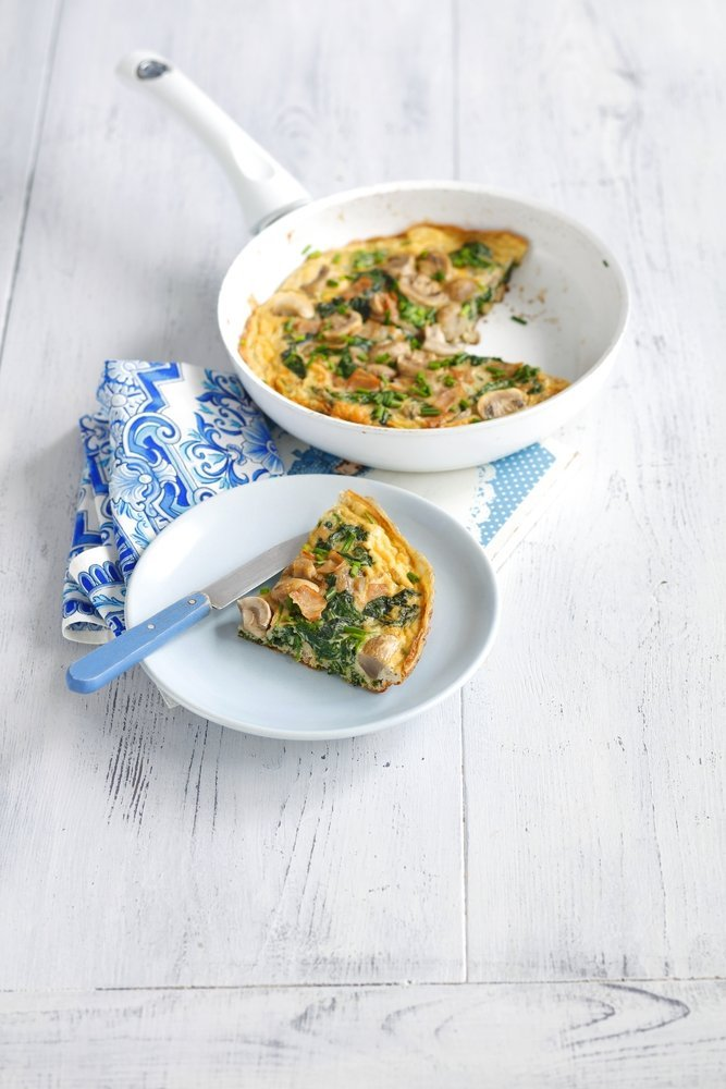 low fat spinach mushroom frittata