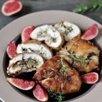 Keto chicken rolls with cheese and figs
