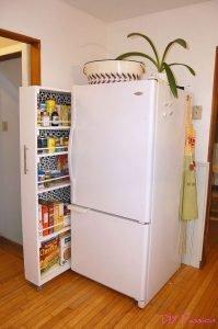 DIY kitchen cabinet pantry organizer
