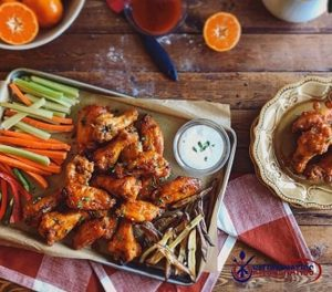 baked hot wings