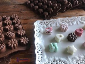 homemade chocolates and silicone chocolate molds