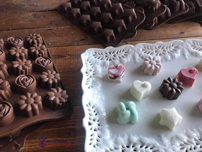 homemade chocolates and silicone chocolate molds