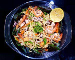 Stir-fried noodles Asian recipe
