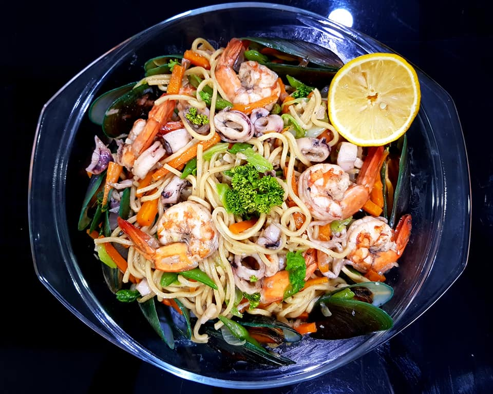Stir-fried noodles Asian recipe