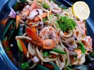 Stir-fried noodles recipe seafood