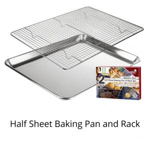 Half sheet pan and rack