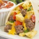 Beef Breakfast Burritos recipe