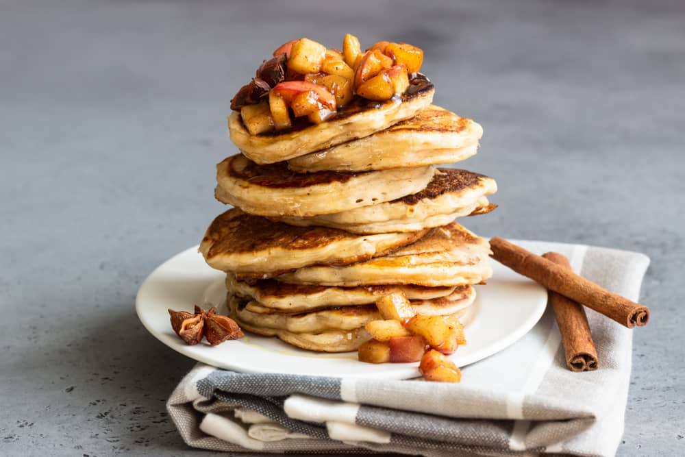 Breakfast Recipes Cinnamon Apple Pancakes
