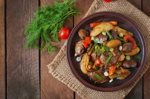 Roast chicken liver recipe with vegetables