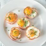Bacon and eggs breakfast cups