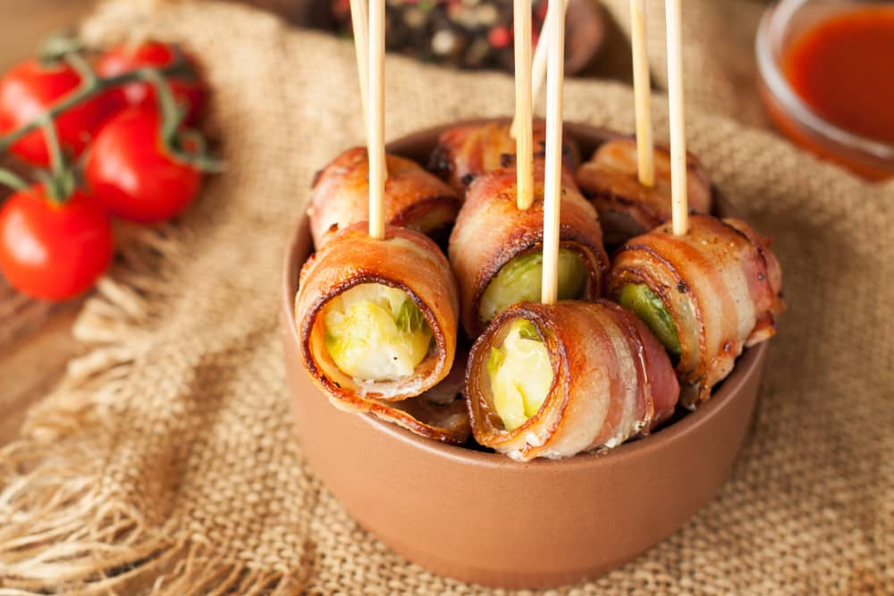 Bacon Wrapped Brussels Sprouts Easy Appetizers