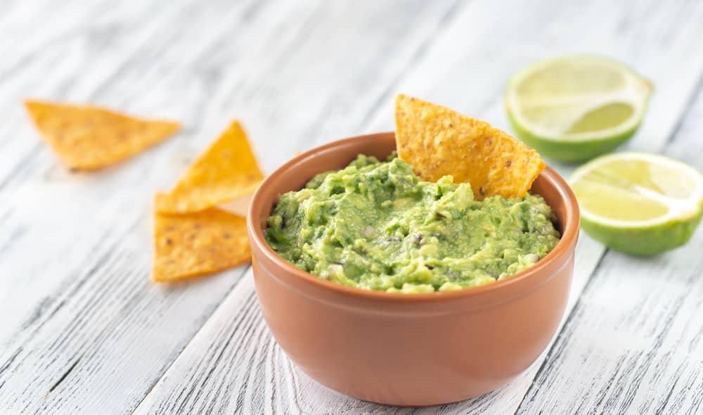 Guacamole dip for healthy snack ideas