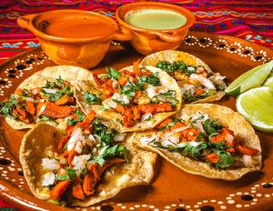 Tacos al pastor Mexican pork tacos