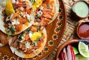 traditional Mexican pork tacos