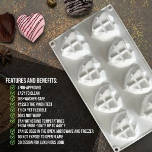 silicone heart molds features