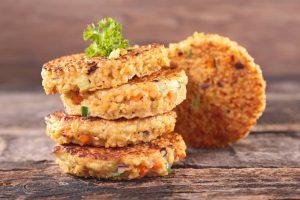 Crispy Quinoa Vegan Patties Make Ahead dish