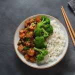 Sheet Pan Dinner Tofu and Broccoli