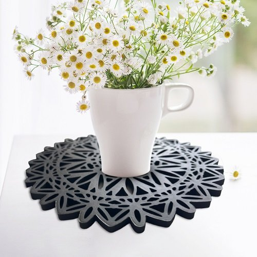 decorative silicone trivet pads for hot dishes