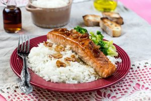Easy Salmon Dinner with Broccoli
