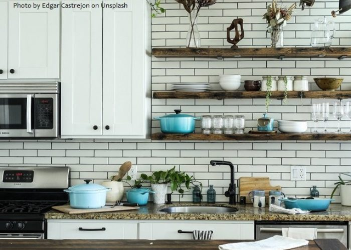 Organized kitchenware and cooking tools